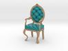 1:24 Half Inch Scale TealPale Oak Louis XVI Chair 3d printed
