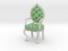 1:24 Half Inch Scale MintWhite Louis XVI Chair 3d printed