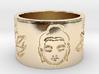 Buddha Lotus Flat Ring Size 4.5 3d printed