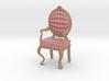 1:12 Scale Red Plaid/Pale Oak Louis XVI Chair 3d printed