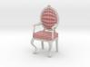 1:12 Scale Red Plaid/White Louis XVI Chair 3d printed