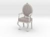 1:12 Scale Pastel Striped/White Louis XVI Chair 3d printed