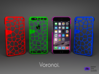 Iphone 6 case - Voronoi pattern 3d printed