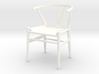 Wishbone Chair 3d printed