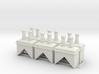 CB-FC-02 Chimneys X 6 - 00 Gauge 3d printed