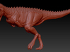 1/40 Carnotaurus - Running 3d printed Zbrush render of sculpt