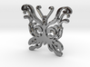 Swirly Butterfly Necklace Pendant 3d printed