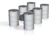 1/100 Oil Barrel 55 Gallons 200 Ltr.Fass modern 3d printed