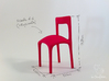 Uncomfortable chair No3 - 1:6 scale 3d printed