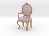 1:12 Scale Pink Chintz/Pale Oak Louis XVI Chair 3d printed