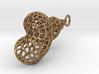 Seashell Pendant - Voronoi Cell Pattern 3d printed