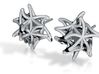 Aster Studs Small Steel 3d printed