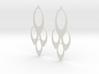 Earrings Oval 3d printed