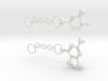 Guanine&cytosine Keyring 3d printed