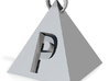 Letter P Charm 3d printed