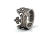 Crown Ring (various sizes) 3d printed Stainless Steel