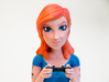 Redhead gamer girl mini bust 3d printed Closeup!