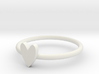Closed Heart Ring 3d printed