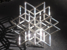 Rhombic star earring 3d printed larger model in polished silver