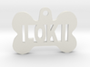 Bone Pet ID Tag - Loki 3d printed
