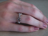 """""""IDIC"""" Vulcan Script Ring - Cut Style 3d printed Pictured: Rhodium Plated"""