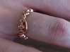 """""""Live Long & Prosper"""" Ring - Cut Style 3d printed Pictured: 14k Rose Gold Plated"""