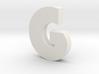 G Bauhaus Font  3d printed