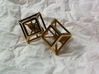 Geometric cufflinks 3d printed Cufflinks in polished brass