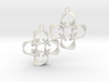 EARRINGS_Hyperloop earrings, flexible, PAIR 3d printed