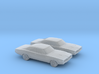 1/160 2X 1969 DODGE CHARGER 3d printed