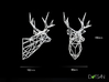 Wired Life Stag 150mm Facing Left 3d printed