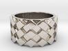 Futuristic Diamond Ring Size 5 3d printed