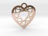 Diamond Heart Charm 3d printed