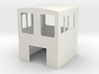 F Scale critter cab 3d printed White Strong & Flexible