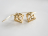 Diamond Earrings 3d printed