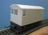 O Scale Critter Body 3d printed Rear View of Body on Chassis