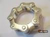 Violetta L. - Bicycle Chain Ring 3d printed Polished Silver printed in US 9