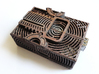 ButterPi Case 3d printed Black Strong & Flexible drybrushed with metallic acrylic paint.