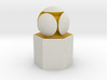 LuminOrb 2.4 - Column Stand 3d printed Shapeways render of Column Display Stand with GENEROSITY in Full Color Sandstone