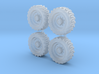 Tractor wheels  01. HO scale(1:87)   3d printed