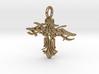 Pendant Tribal Cross Design 02 Model 03 - MCDStudi 3d printed