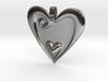 Pendant Heart Swirl Pattern 001 FM - MCDStudios 3d printed